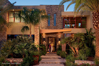 Residential cultured stone facade by Allied Paver Systems